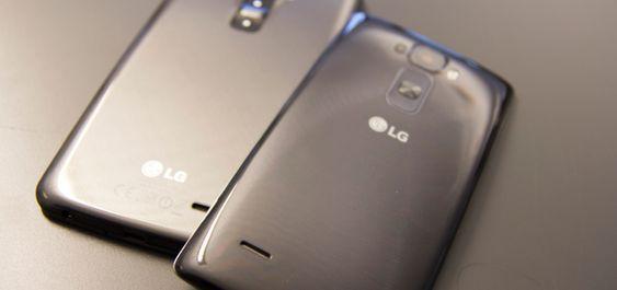 LG har tidligere laget bøyde mobiler – men da innover. Her representert ved LG G Flex og LG G Flex 2.