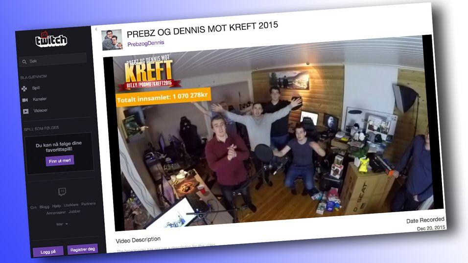 Norske YouTubere samlet inn over en million kroner til Kreftforeningen