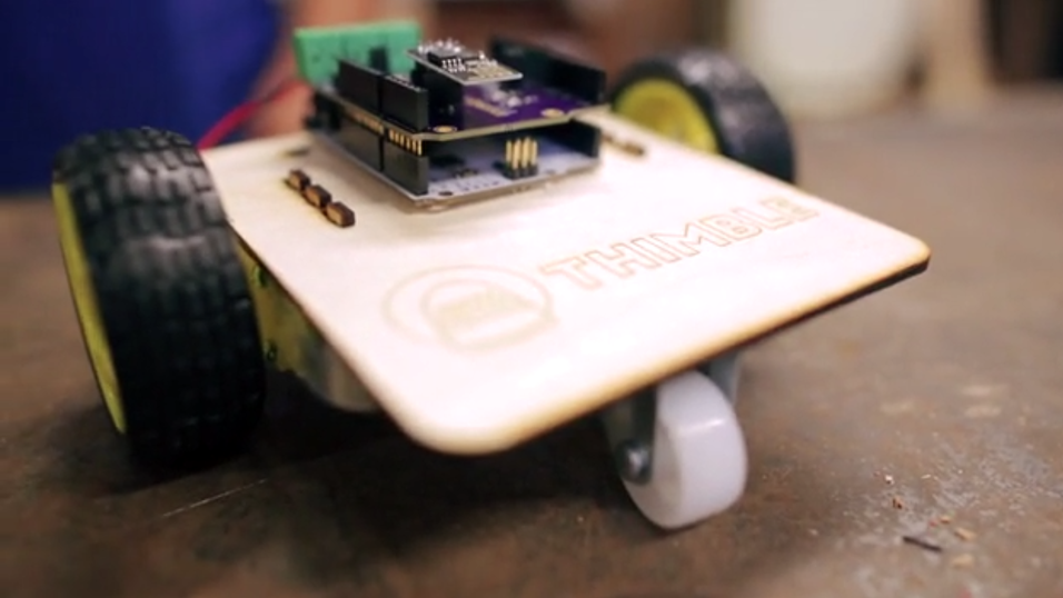 Dette er det frøste produktet til den nye tjenesten, en Wi-Fi-styrt robot.