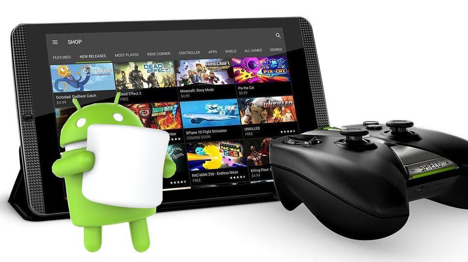 Android Marshmallow har ankommet Shield Tablet K1.