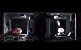 Objektene kopieres fra den ene boksen til den andre.