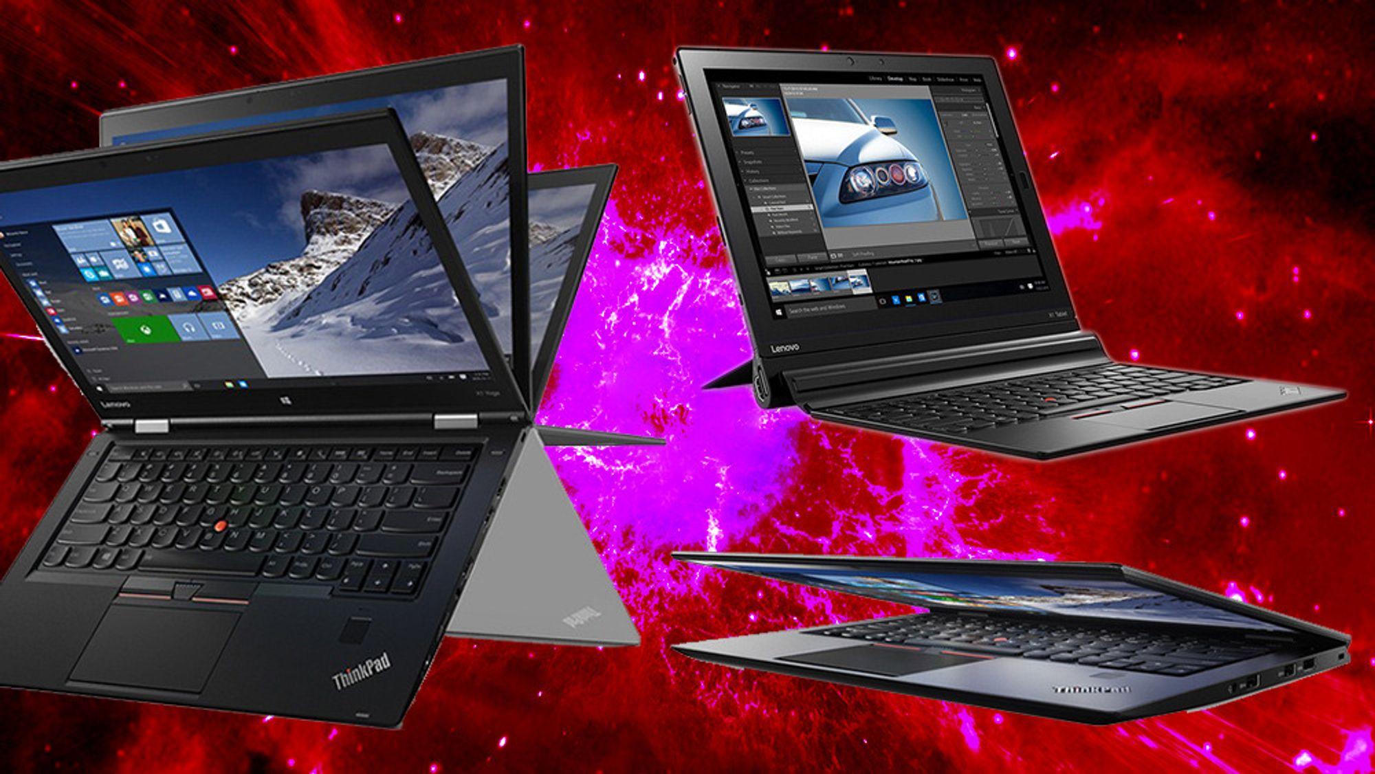 ThinkPad X1 Yoga, X1 Tablet og X1 Carbon.