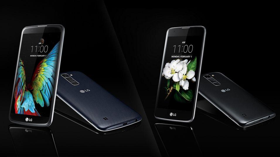 Her er LG K10 (venstre) og K7 (høyre).