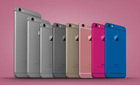 Alle modellene og alle fargene til iPhone 7C/iPhone 6C, foreslått av en konseptdesigner.