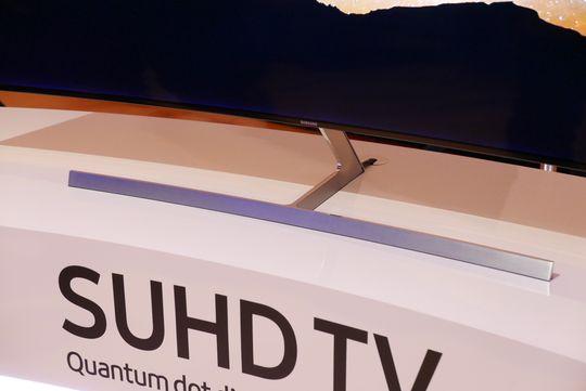 Foten er stilig på konsept-TV-en.