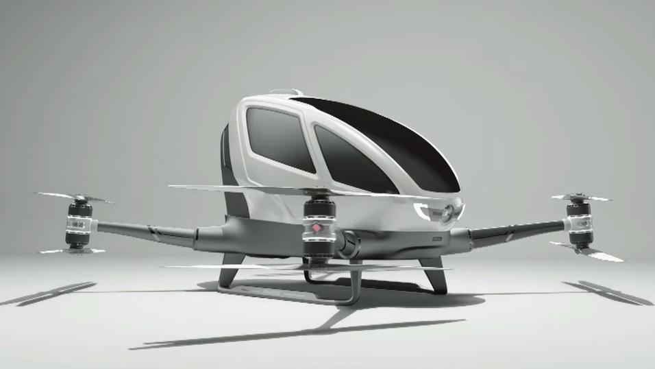 Slik ser dronen som kan kjøres av mennesker ut.