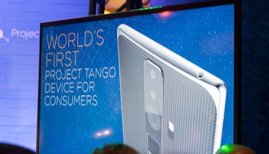 En annen mulig designvri på Project Tango-telefonen. Akkurat hvordan den vil se ut får vi ikke vite før i juni.