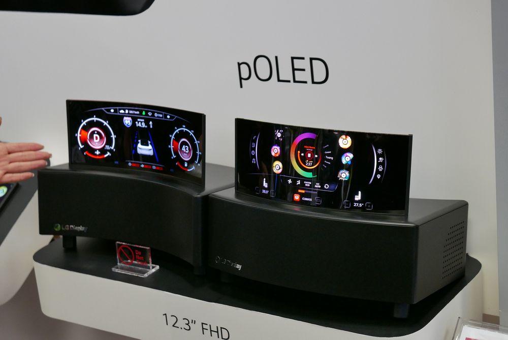 OLED-kan også brukes i biler. Her er et eksempel på speedometer til bil.