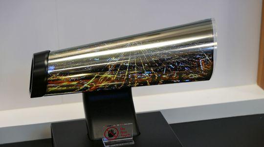 LGs rulle-TV var rett og slett imponerende.