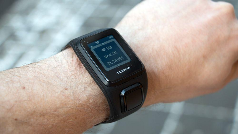 TomTom Spark Cardio har en skjerm som fungerer godt utendørs.