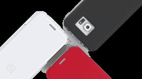 SlimType kommer i tre farger: rød, svart og hvit.