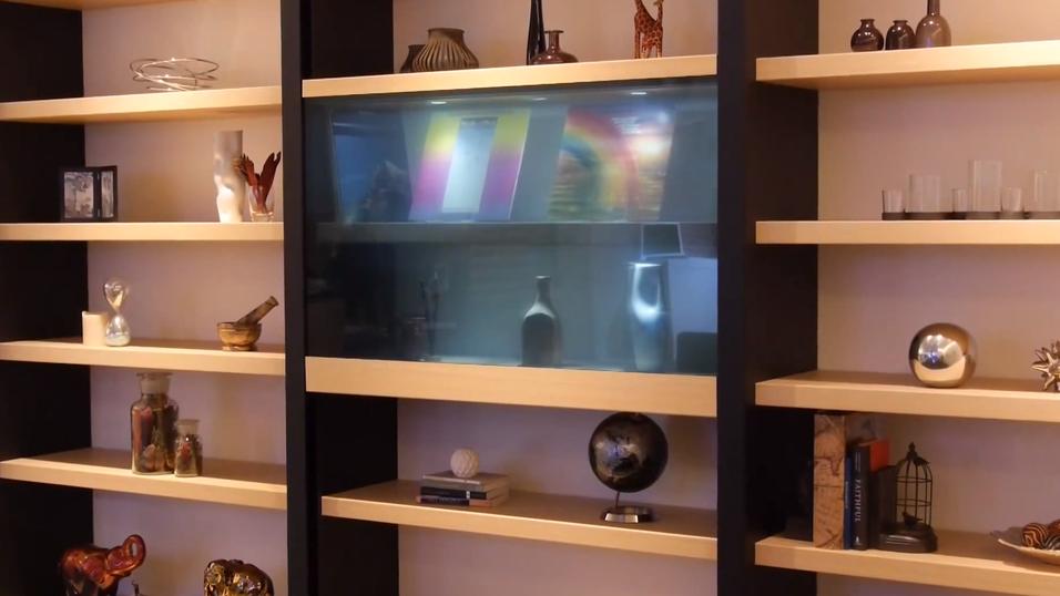 Slik ser den gjennomsiktige TV-en ut.