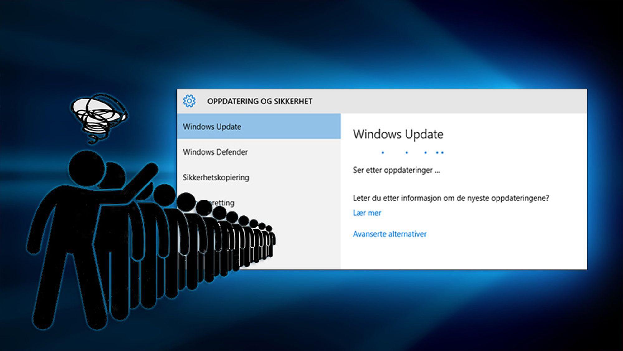 Lei av å stå i kø for den nye store Windows 10-oppdateringen? Det ble vi også, og løste det ved å snike.