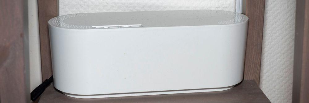 Slik ser boksen ut når den er pakket sammen.