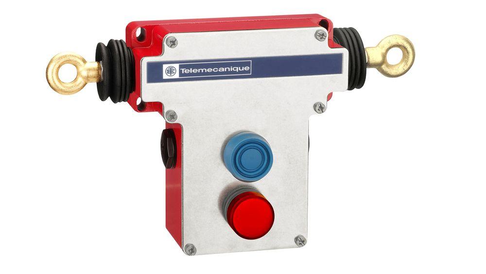 Telemecanique Sensors lanserer ny, dobbeltsidig nødstoppbryter med snortrekksystem for applikasjoner med langt transportbånd.