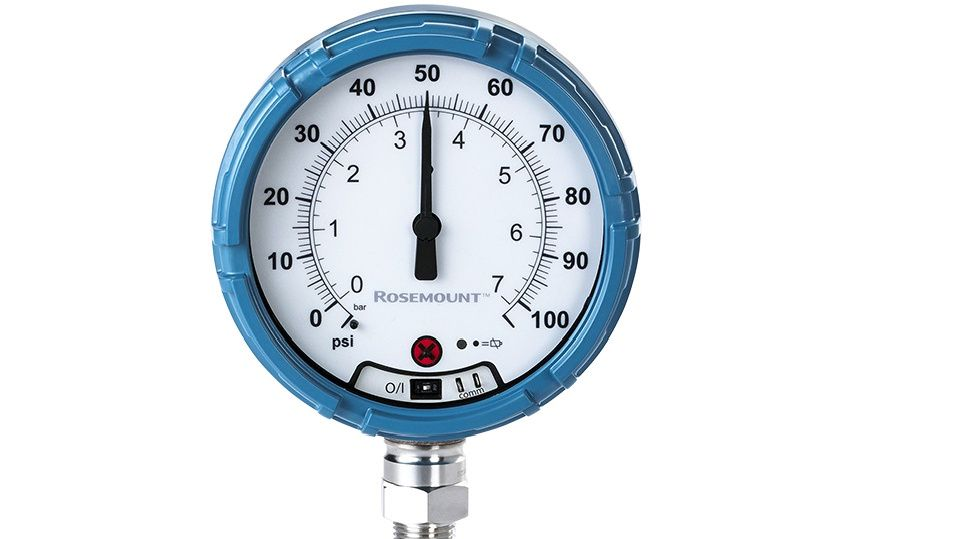 Emersons Rosemount Wireless Pressure Gauge.