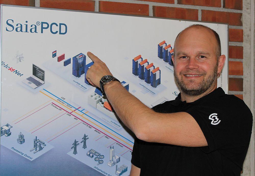 Sven Ringstad, ansvarlig for automasjonsprodukter hos Malthe Winje