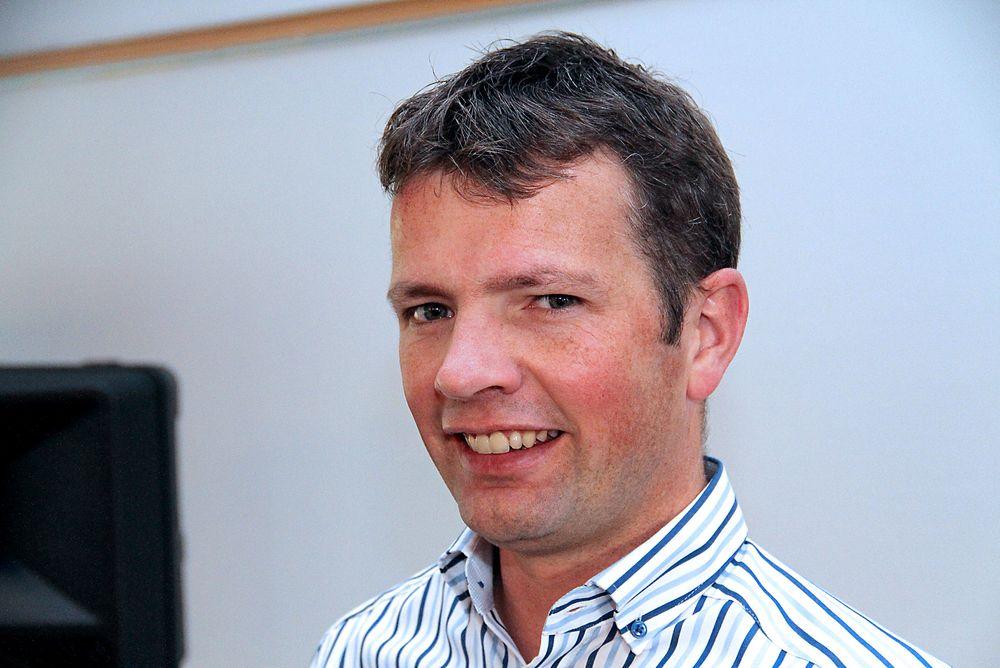 Erik van de Wetering fra Schneider Electric bygger Europeisk supportsenter.