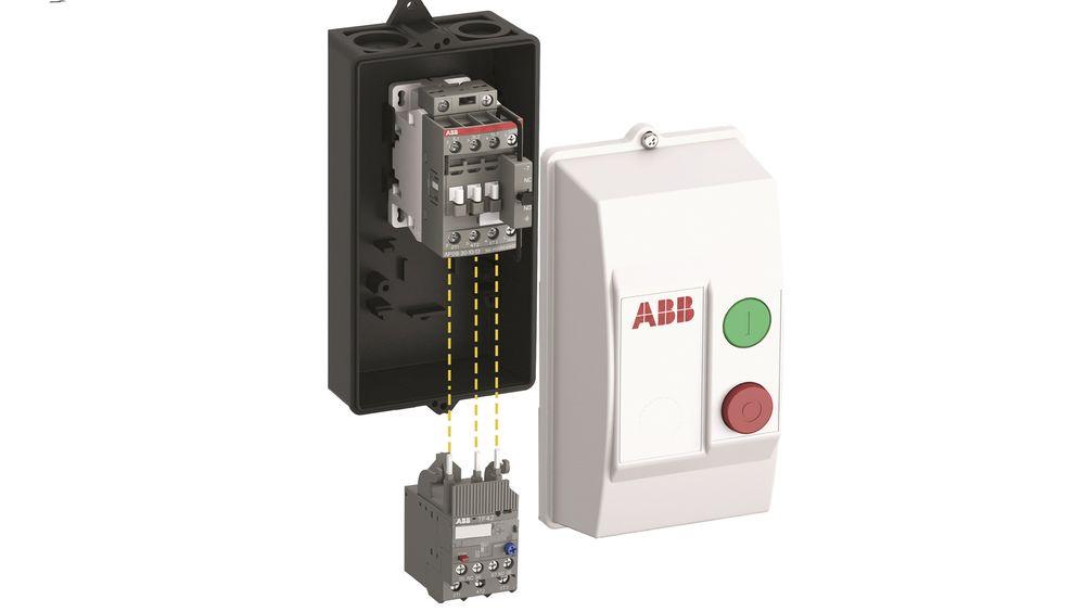 DRAF-kapslete DOL-startere med AF-kontaktor og termisk vern, fra ABB