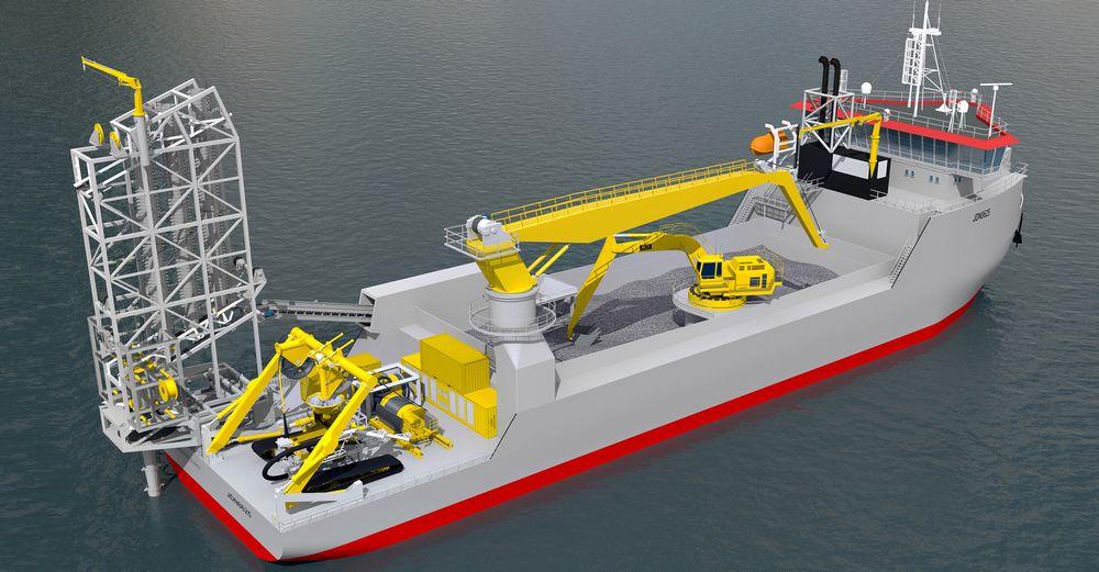 Ulstein Power & Control skal levere kraft- og kontrollsystem til to slike skip.