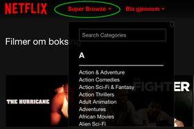 Super Browse gjør det enda lettere å finne de bortgjemte underkategoriene.