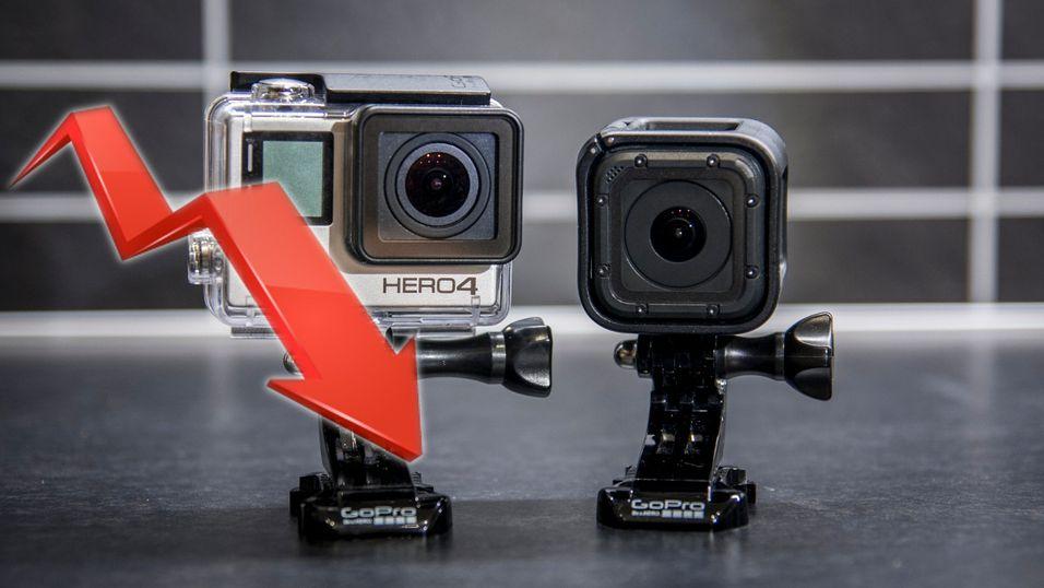 GoPro opplever kraftig nedgang i salg