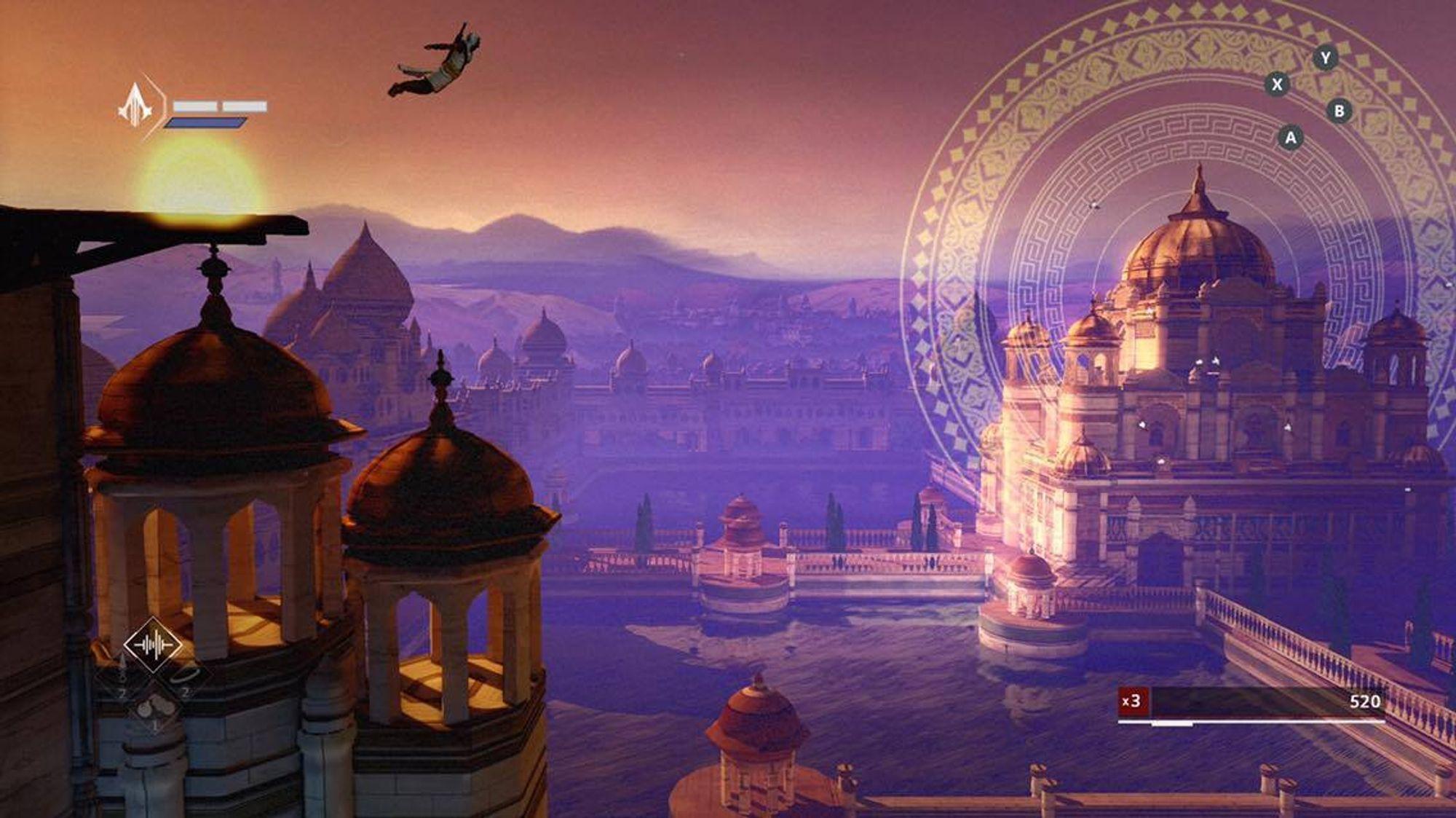 Leap of Faith. Et ikonisk bilde fra Assassin's Creed-serien satt til en vakker bakgrunn.