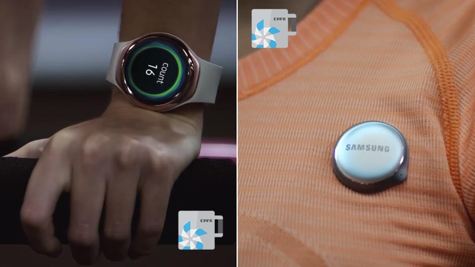 Samsungs neste treningsarmbånd ser ut til å få en egen del som kan festes på brystet.