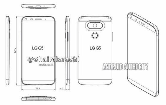 Slik skal LG G5 bli seende ut – iallefall ifølge plantegningene.