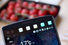 LG V10 har en slik, liten ekstra OLED-skjerm i toppen. Vil G5 få det samme?