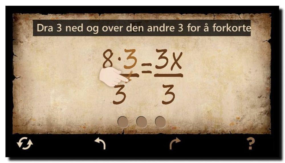 Mathemateria Eq skal senke terskelen for å lære matematikk ved at du løser ligninger på skjermen og får fortløpende respons på om du har tatt poenget.