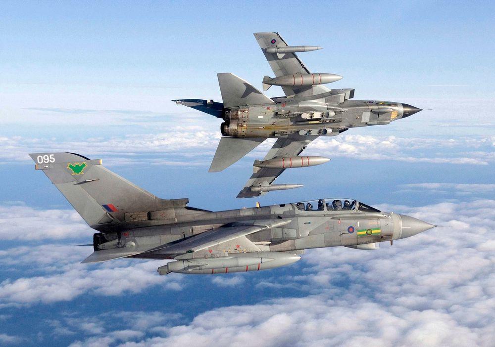 Jagerfly av typen Tornado GR4 fra Royal Air Force har benyttet seg av komponenter laget ved hjelp av en 3D-printer.