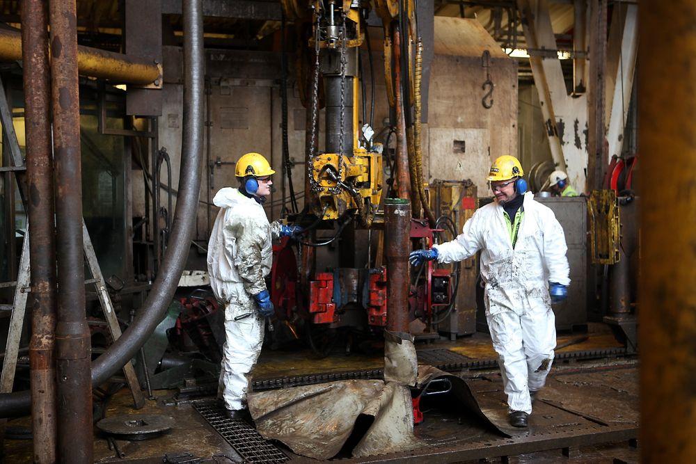 MINDRE OPP: Norge pumpet opp mindre olje og gass i de tre første kvartalene i 2013 sammenlignet med samme periode i 2012.