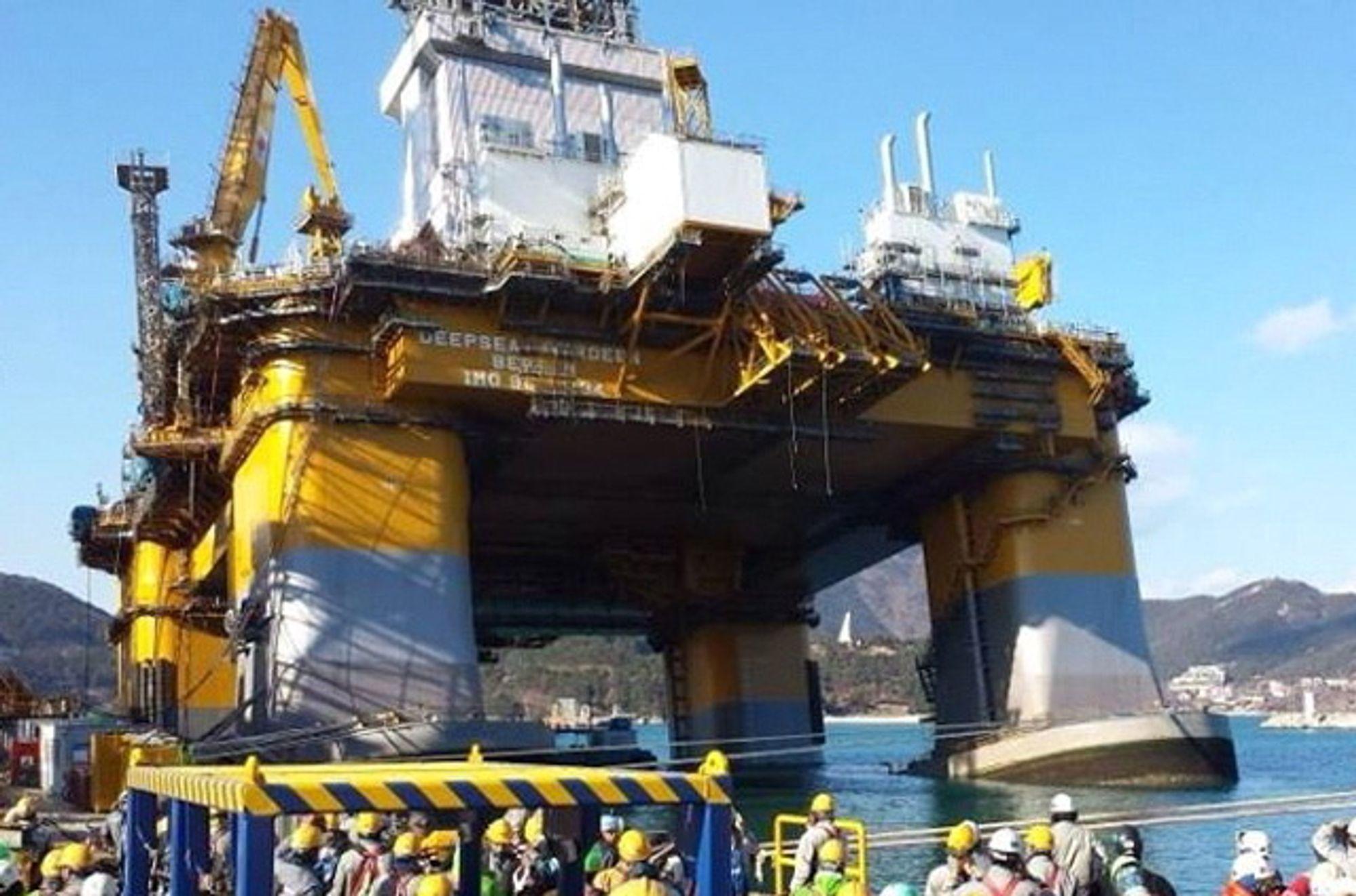 Tiltet: Vann trengte ukontrollert inn og medførte at Deepsea Aberdeen fikk slagside 28. desember 2013.