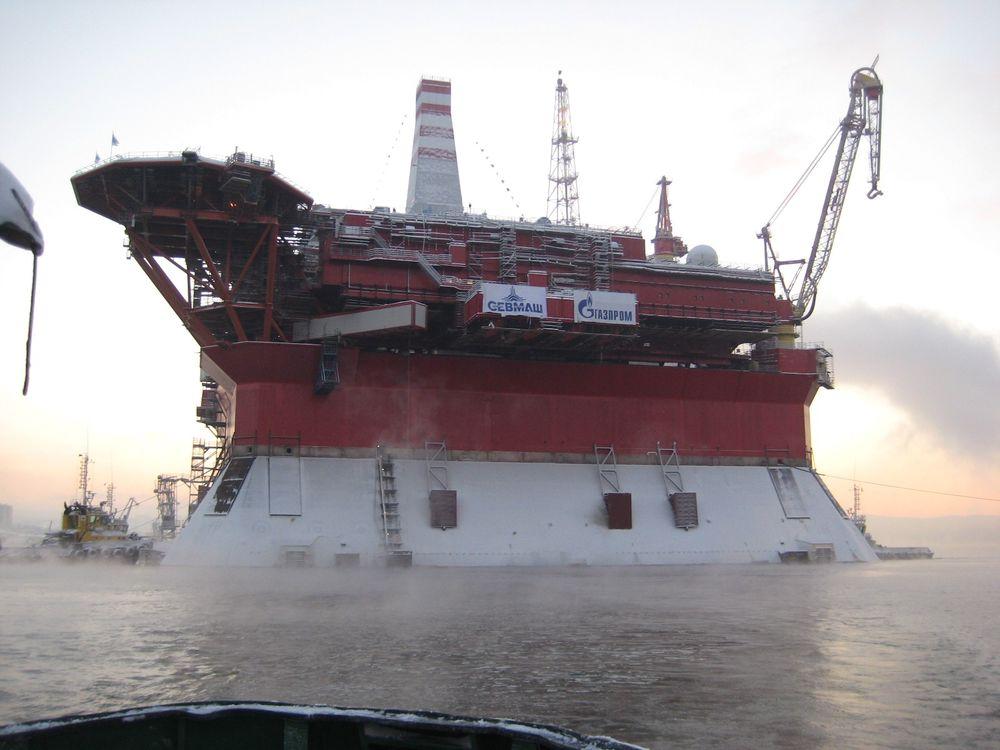 Gazprom startet produksjon fra Prirazlomnaja-plattformen i slutten av desember.