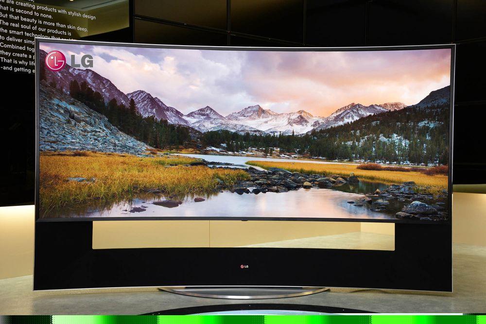 Hva med en 105 tommer kurvet LCD-TV med UHD-oppløsning? Ufattelig lekker, men vi tipper ny all time high på prislappen.
