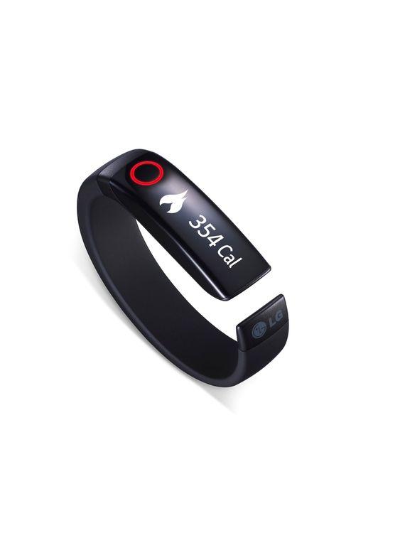 Lifeband: Med et armbånd som snakker med telefonen og med øretelefonene vil LG inn i det raskt voksende markedet for teknologi vi bærer på kroppen, såkalte wearables. Denn kan via øreteleonene vise deg pulsen