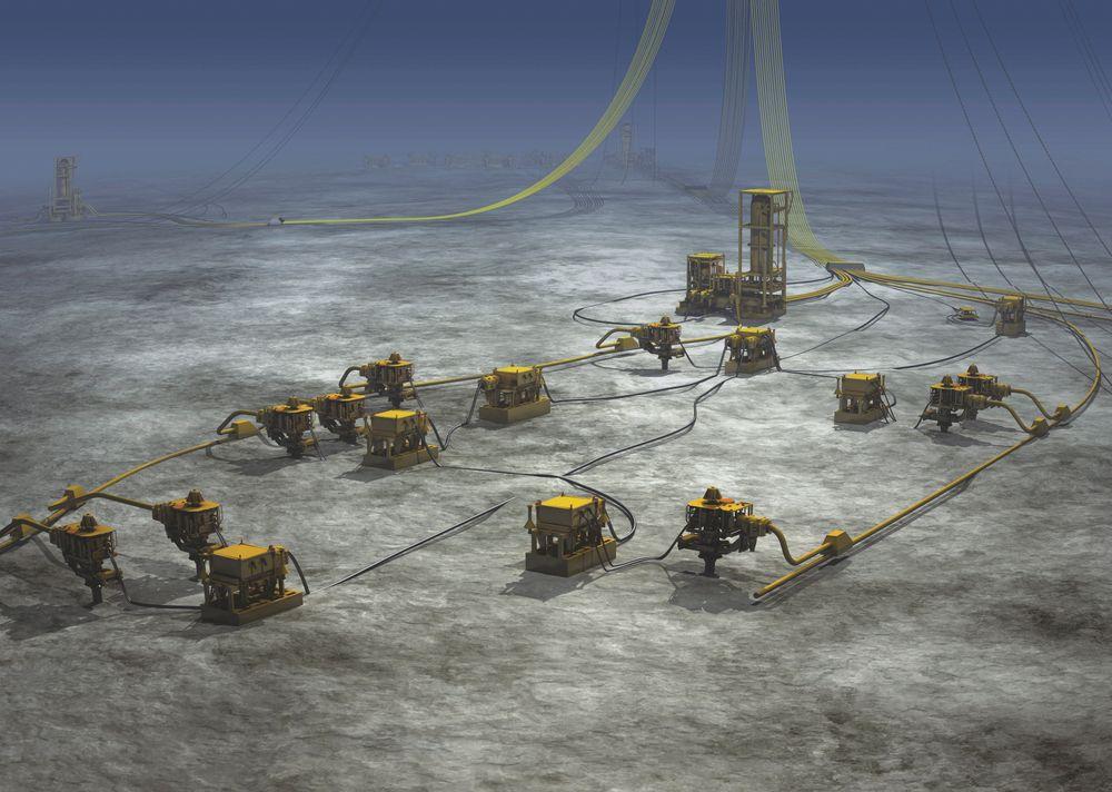 FÆRRE OPPDRAG: Subseabransjen sliter med kostnadene i oljeindustrien, og flere selskaper unngår å ansette nye medarbeidere. Her er subsealøsningen til FMC på Pazflor-feltet utenfor kysten av Angola.