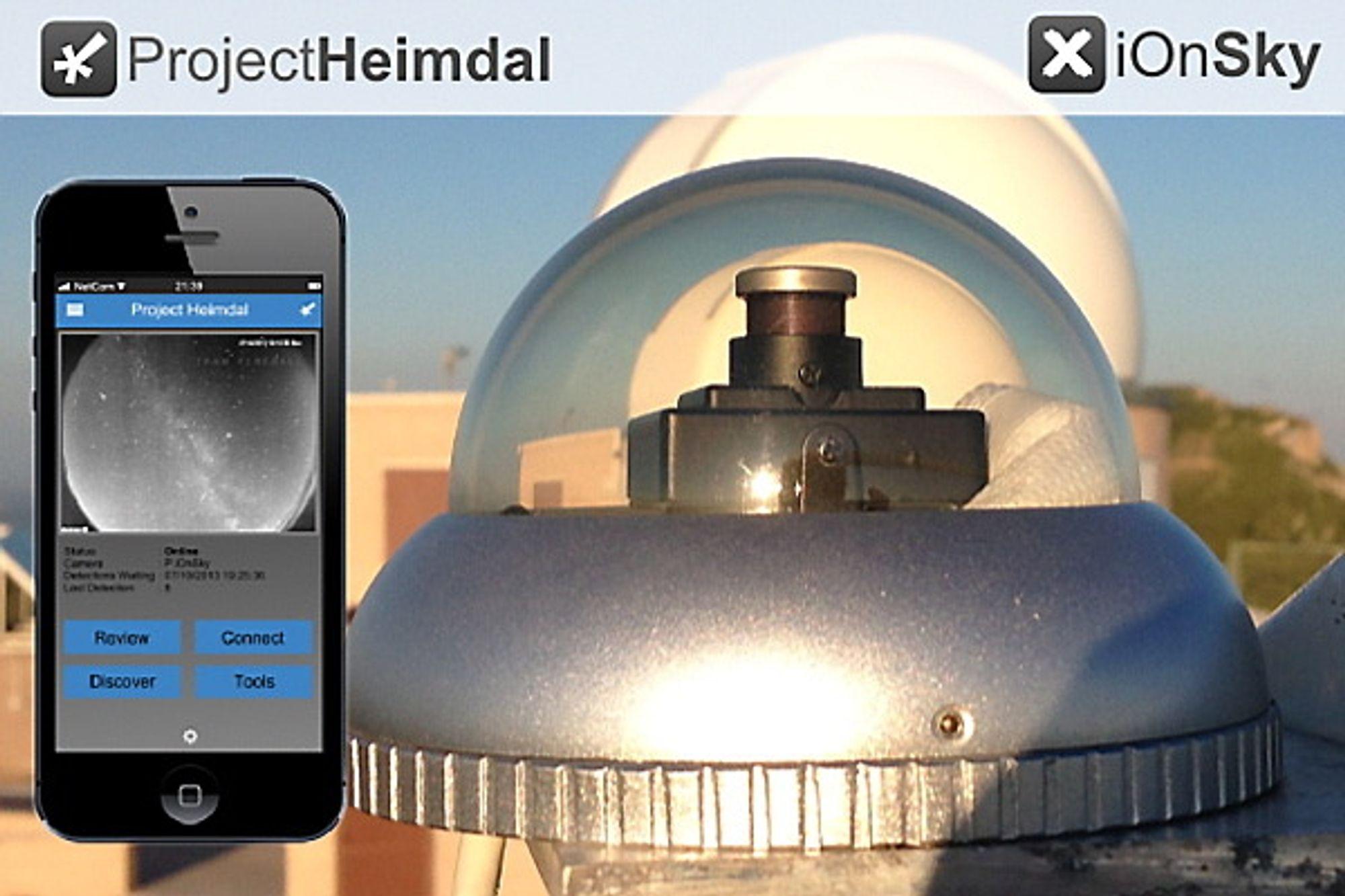 Et kamera med fisheye-linse skal levere data til en server som skal kunne stadfeste meteorittlandinger på jordkloden.