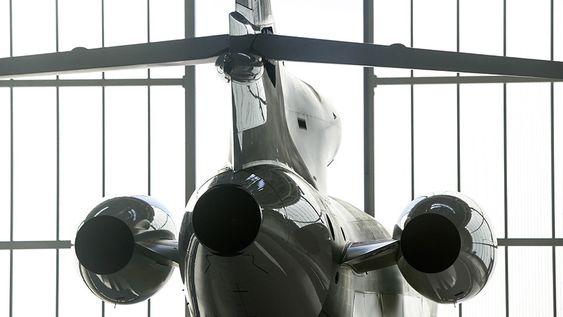 Falcon 8X har i likhet med 7X og 900 tre halemonterte motorer.