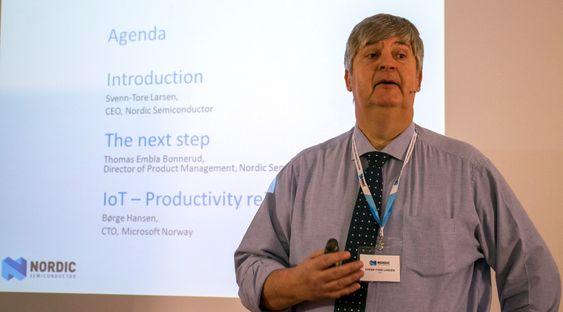 Årets teknologileder: Adm. direktør i Nordic Semiconductor, Svenn-Tore Larsen ble  i februar utnevnt til årets teknologileder av Teknisk Ukeblad. Med dagens lansering gjør han ikke skam på tittelen.