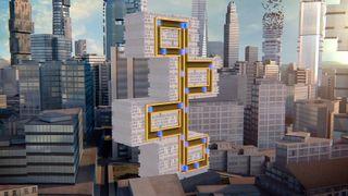 Her er heisen som kan gå både loddrett og vannrett