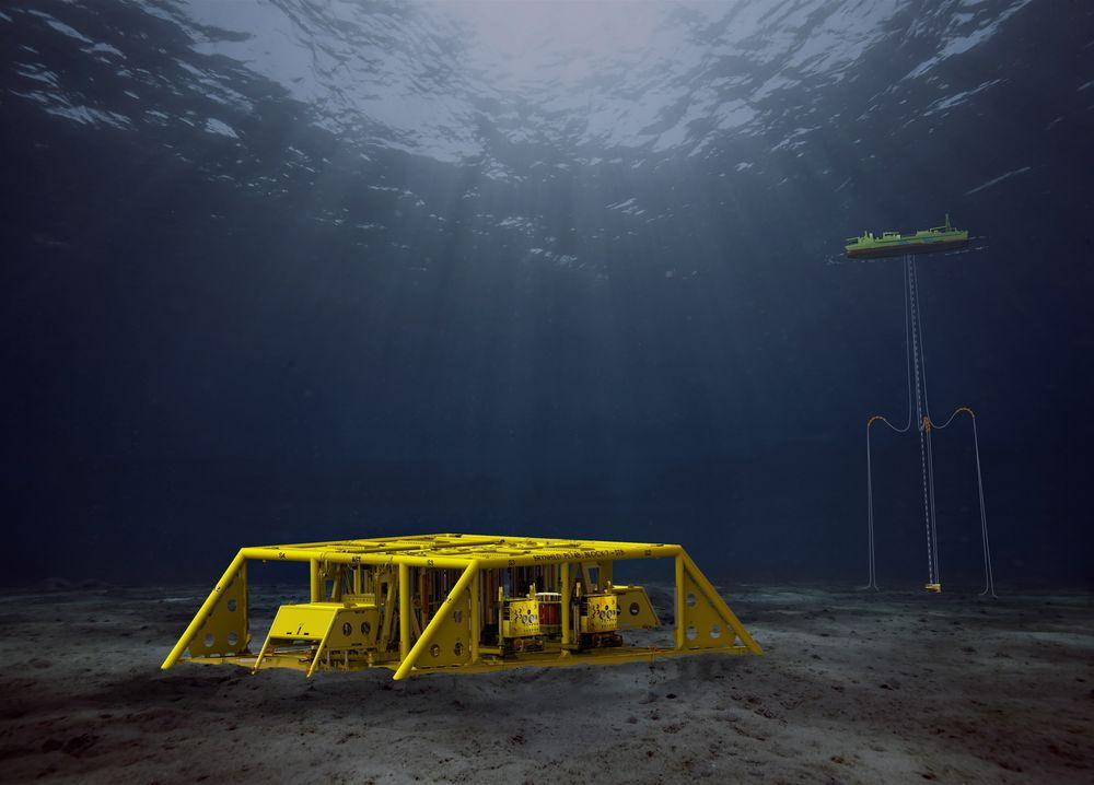 Subsea-løsningen på Brynhild er en undervannstilknytning til produksjonsskipet Haewene Brim FPSO på Pierce-feltet i britisk sektor av Nordsjøen.