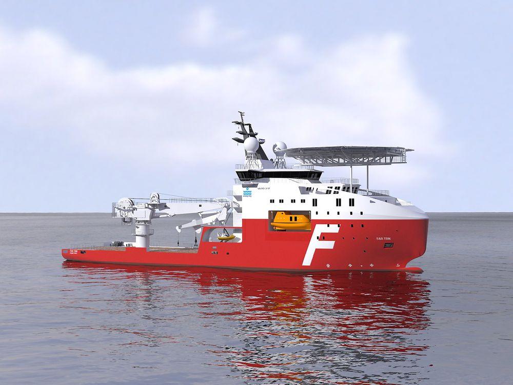 Technip-tilpasset: VARD 3 17 er 98 meter lang, 21,5 bred og utstyres med 150-tonns kran og to ROV-er.