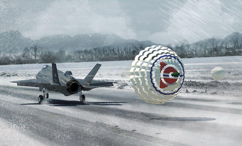 De norske F-35-flyene blir utstyrt med bremseskjerm slik at de kan operere i norsk vinter.