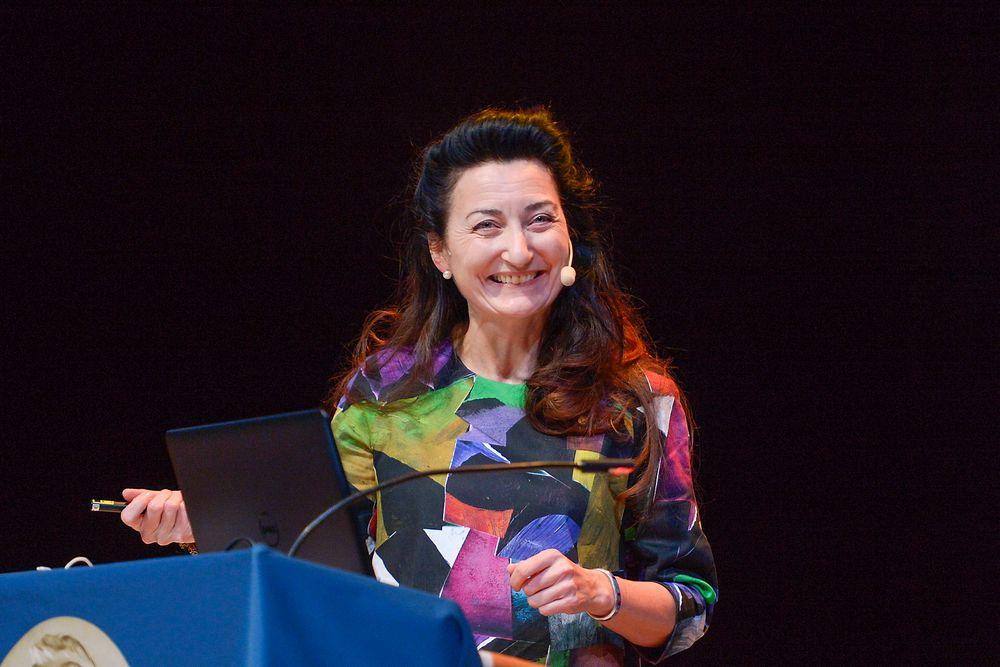 En improvisert jazzmusikkvideo var blant virkemidlene nobelprisvinner May-Britt Moser brukte under sin forelesning søndag.