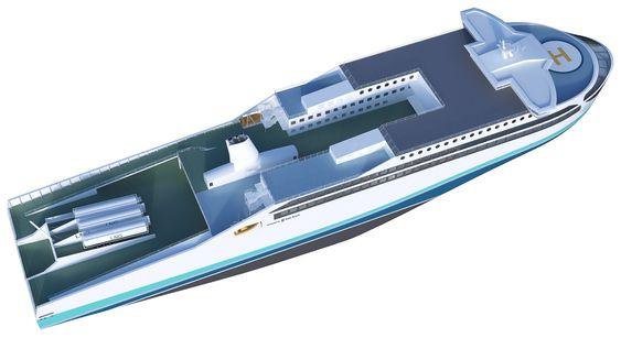 Fergekonseptet til Rolls-Royce uten lasteramper og med utskiftbare LNG-tanker.