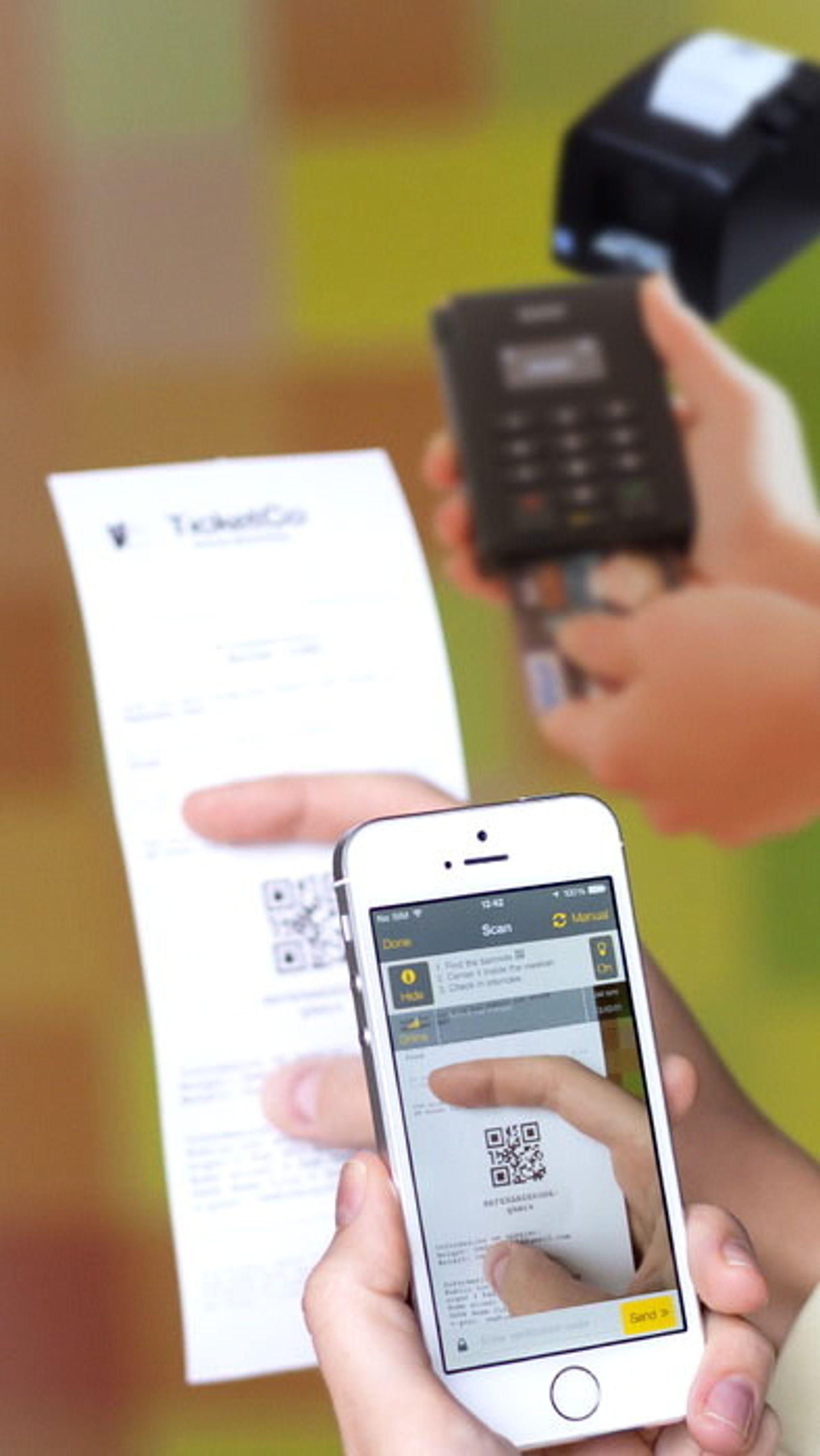 TicketCos løsning er iOS-basert, og bruker kamera til å skanne QR-koder for å validere billetter.
