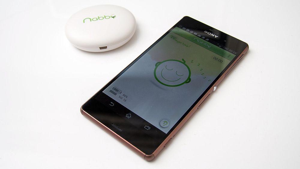 Nabby er en Blueooth-basert Babycall du bruker med en Android- eller iOS-enhet.