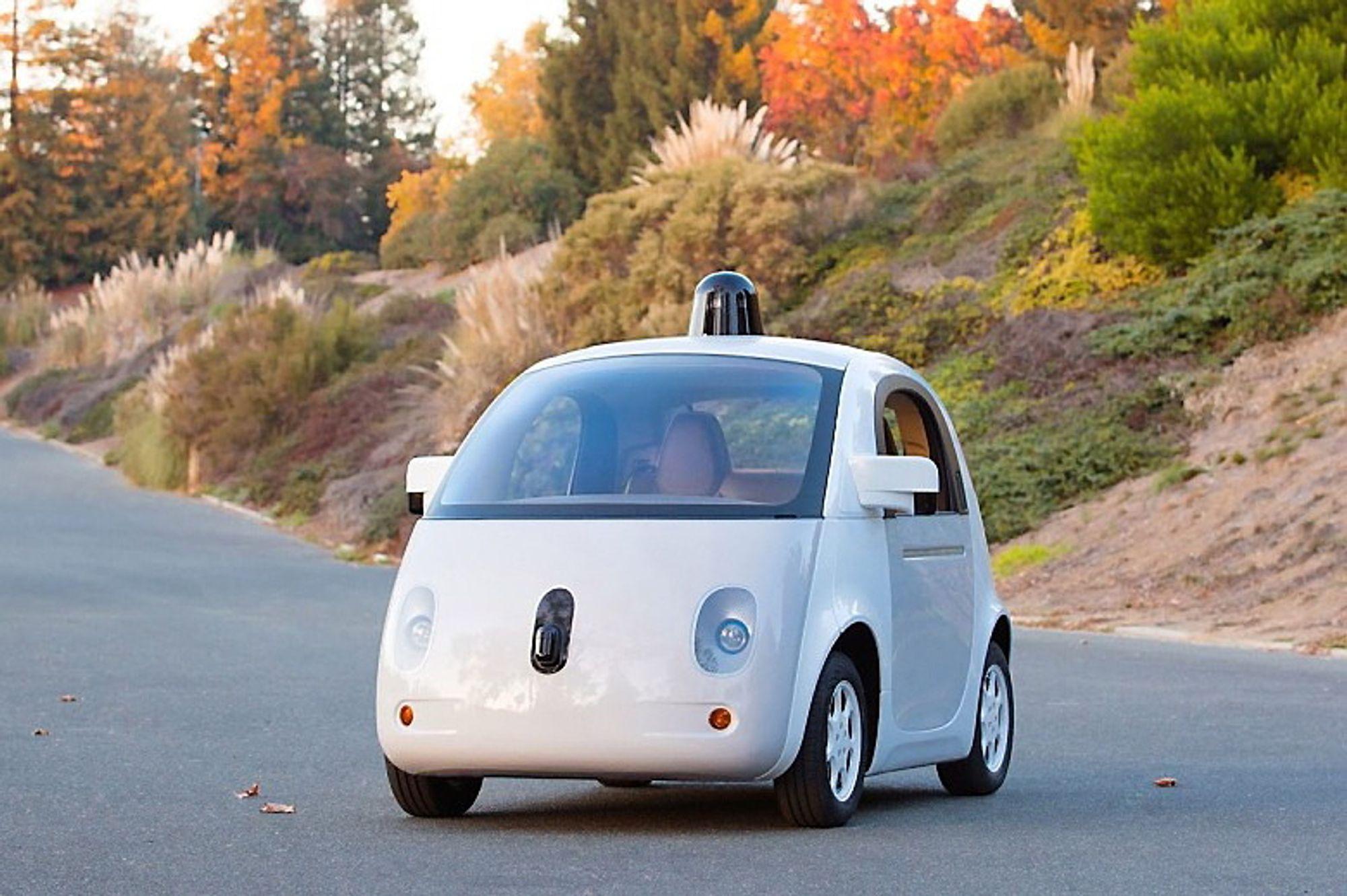 Prototyp på Googles selvkjørende bil.